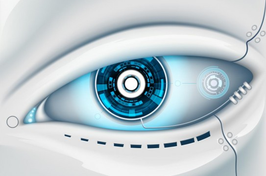 Robot-Android-Eye-Background